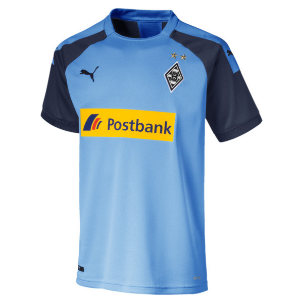 Borussia Mönchengladbach Boys' Away Replica Jersey, Team Light Blue-Peacoat, large