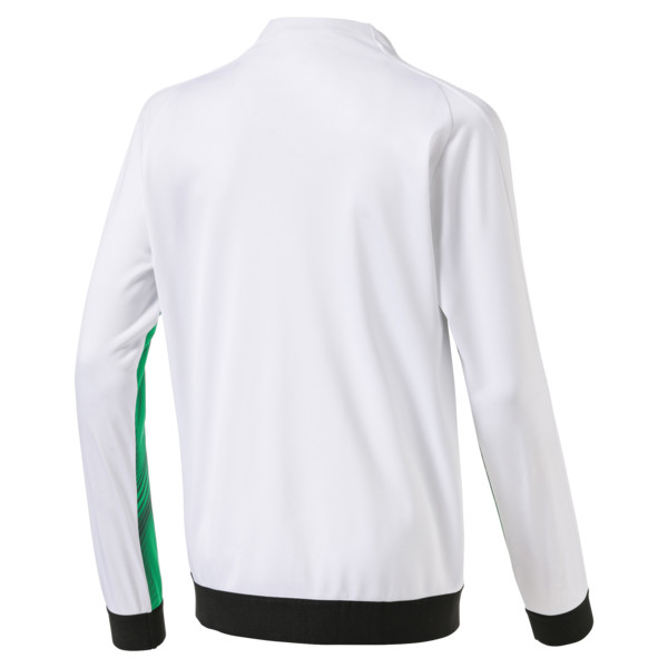 Borussia Mönchengladbach Kids' Stadium Jacket, Bright Green-Puma Black, large