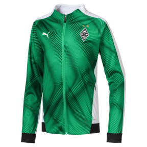 Thumbnail 1 of Borussia Mönchengladbach Kids' Stadium Jacket, Bright Green-Puma Black, medium