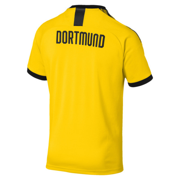 BVB Men's Home Authentic Jersey, Cyber Yellow-Puma Black, large