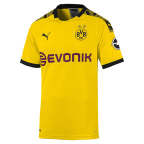 Thumbnail 1 of BVB Men's Home Authentic Jersey, Cyber Yellow-Puma Black, medium