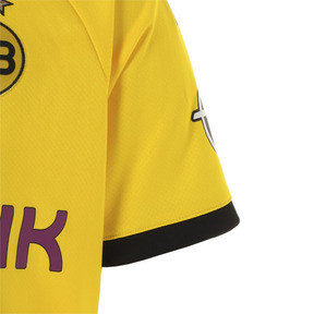 Thumbnail 4 of ドルトムント BVB SS ホーム レプリカシャツ (半袖), Cyber Yellow-Puma Black, medium-JPN