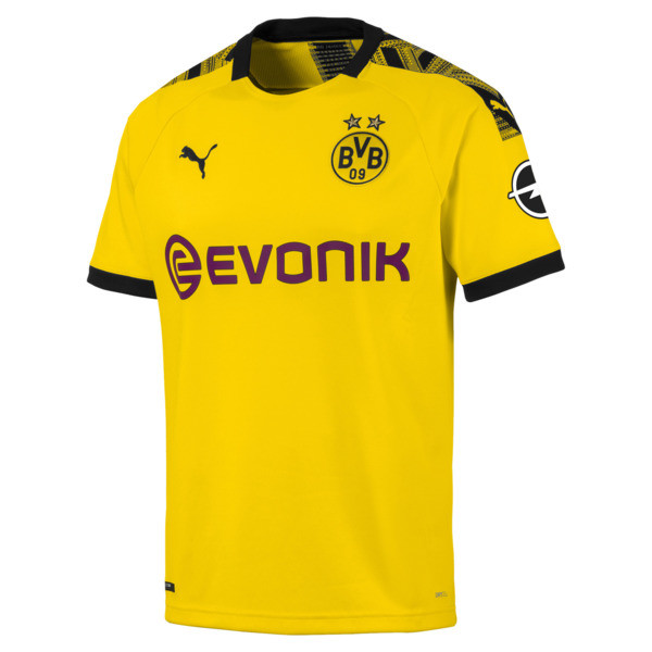 BVB Men's Home Replica Jersey, Cyber Yellow-Puma Black, large