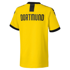 Thumbnail 2 of BVB Boys' Home Replica Jersey, Cyber Yellow-Puma Black, medium