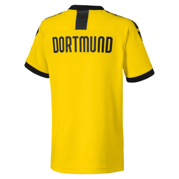 BVB Boys' Home Replica Jersey, Cyber Yellow-Puma Black, large