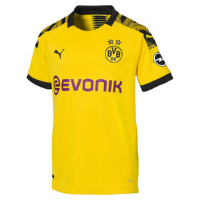 Thumbnail 1 of BVB Boys' Home Replica Jersey, Cyber Yellow-Puma Black, medium