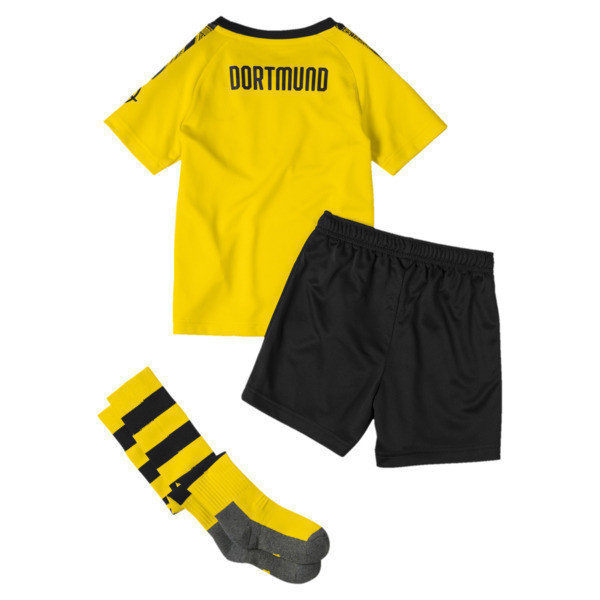 BVB Kids' Home Mini Kit With Socks, Cyber Yellow-Puma Black, large