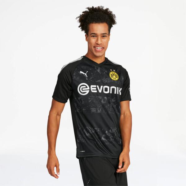 PUMA BVB Away Replica Soccer Jersey in Black, Size M