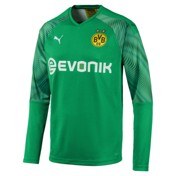 BVB Replica Long Sleeve Men's Goalkeeper Jersey, Bright Green, large