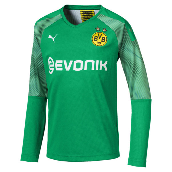 BVB Boys' Replica Goalkeeper Jersey, Bright Green, large