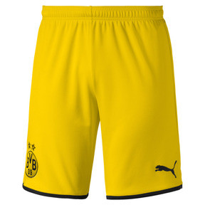 Thumbnail 1 of BVB Men's Away Replica Shorts, Cyber Yellow-Puma Black, medium