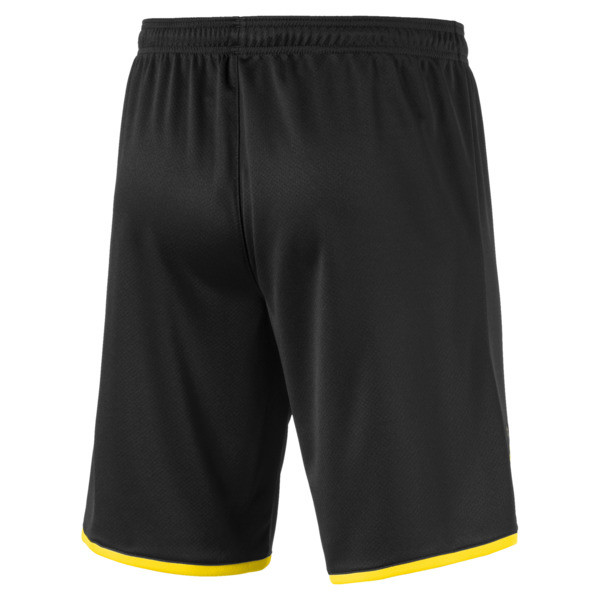 BVB Men's Away Replica Shorts, Puma Black-Cyber Yellow, large