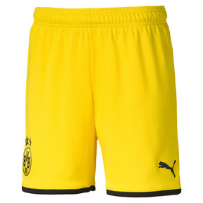 Thumbnail 1 of BVB Boys' Replica Shorts, Cyber Yellow-Puma Black, medium