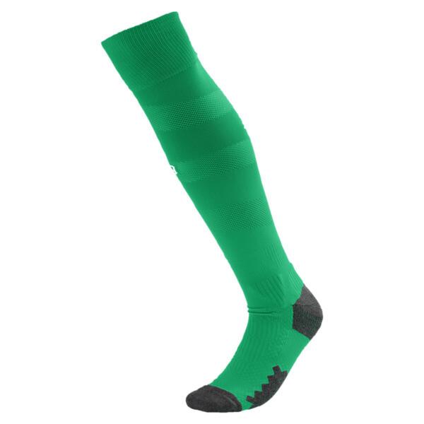 BVB Men's Spiral Socks, Bright Green-Puma White, large
