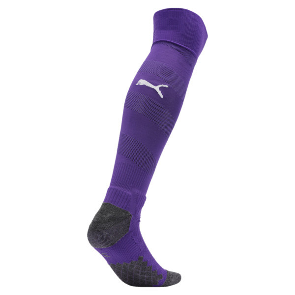 BVB Men's Spiral Socks, Prism Violet-Puma White, large