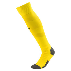 Thumbnail 1 of BVB Men's Spiral Socks, Cyber Yellow-Puma Black, medium