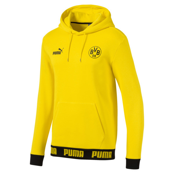 BVB Football Culture Men's Hoodie, Cyber Yellow, large