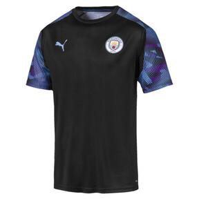 Thumbnail 1 of Man City Men's Training Jersey, Puma Black-Team Light Blue, medium