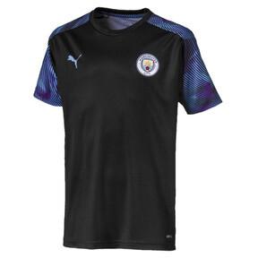 Thumbnail 1 of Man City Kids' Training Jersey, Puma Black-Team Light Blue, medium