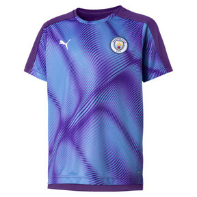 Thumbnail 1 of Man City Stadium League Kids' Jersey, TillandsiaPurple-TeamLightBl, medium