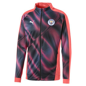 Thumbnail 1 of Man City Stadium League Women's Jacket, Georgia Peach-Puma Black, medium