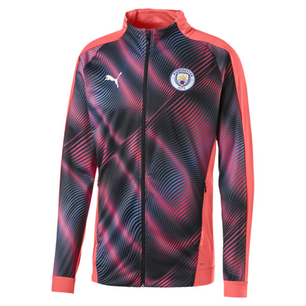 Man City Stadium League Women's Jacket, Georgia Peach-Puma Black, large