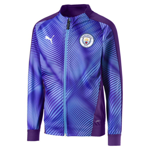 Man City Stadium League Kids' Jacket, TillandsiaPurple-TeamLightBl, large