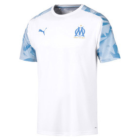 Thumbnail 4 of Olympique de Marseille Herren Trainingstrikot, Puma White-Bleu Azur, medium