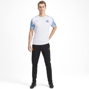 Thumbnail 3 of Olympique de Marseille Short Sleeve Training Jersey, Puma White-Bleu Azur, medium