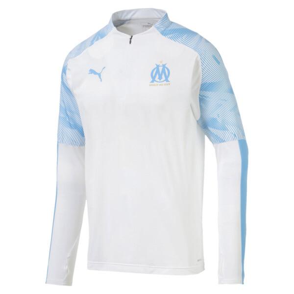 Olympique de Marseille Quarter Zip Men's Training Top, Puma White, large
