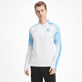 Thumbnail 1 of Olympique de Marseille Men's 1/4 Zip Training Top, Puma White, medium