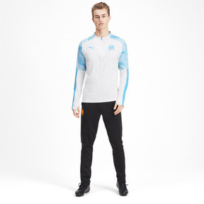 Thumbnail 3 of Olympique de Marseille Men's 1/4 Zip Training Top, Puma White, medium