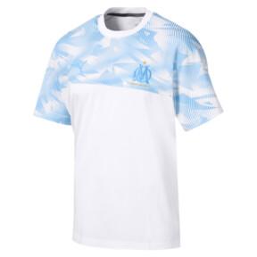 Thumbnail 4 of Olympique de Marseille Casuals Men's Tee, Puma White-Bleu Azur, medium