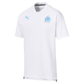 Thumbnail 4 of Olympique de Marseille Casuals Men's Polo Shirt, Puma White-Bleu Azur, medium