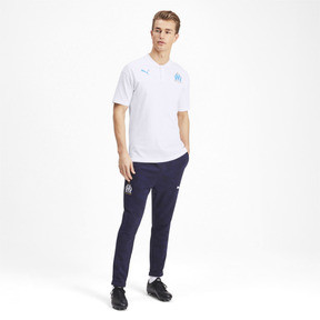 Thumbnail 3 of Olympique de Marseille Casuals Men's Polo Shirt, Puma White-Bleu Azur, medium