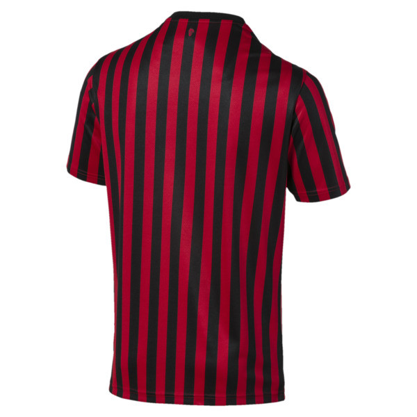 AC Milan Home Authentic Short Sleeve Men's Jersey, Tango Red -Puma Black, large