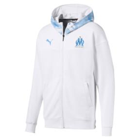 Thumbnail 4 of Olympique de Marseille Casuals Men's Zipped Hoodie, Puma White-Bleu Azur, medium