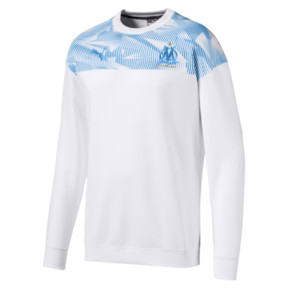 Thumbnail 4 of Olympique de Marseille Casuals Men's Sweater, Puma White-Bleu Azur, medium