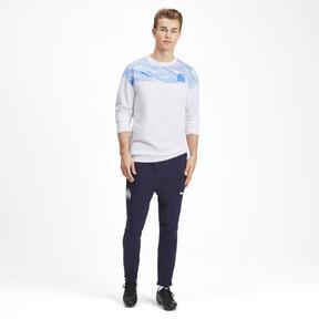 Thumbnail 3 of Olympique de Marseille Casuals Men's Sweater, Puma White-Bleu Azur, medium