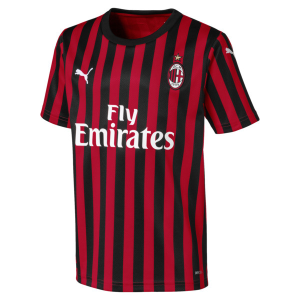 AC Milan Kid's Replica Jersey, Tango Red -Puma Black, large