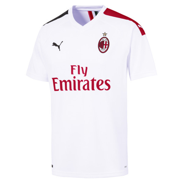 AC Milan Men's Away Replica Jersey, Puma White-Tango Red, large