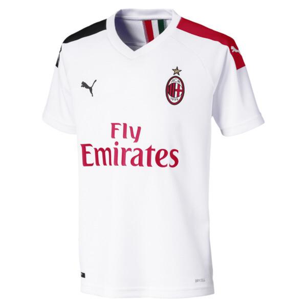 Camiseta de la segunda equipación de réplica de niño AC Milan, Puma White-Tango Red, grande
