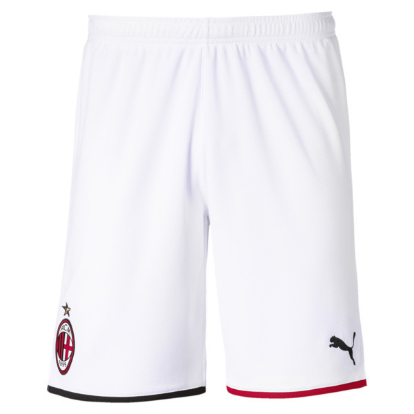 AC Milan Men's Away Replica Shorts, Puma White-Tango Red, large