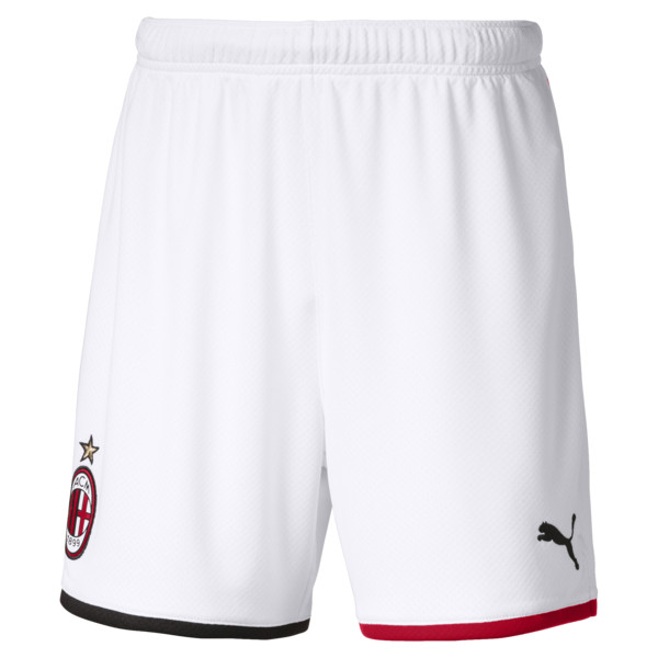 AC Milan Replica Kids' Shorts, Puma White-Tango Red, large