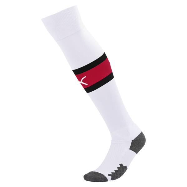AC Milan Men's Band Socks, Puma White-Tango Red, large