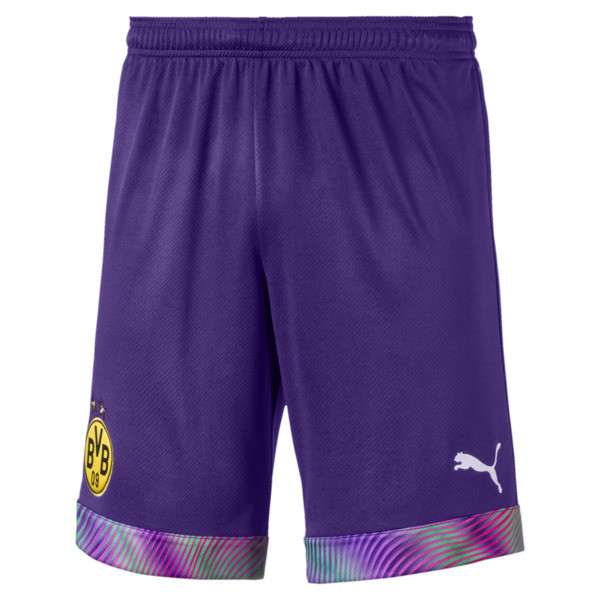 BVB Men's Replica Goalkeeper Shorts, Prism Violet, large