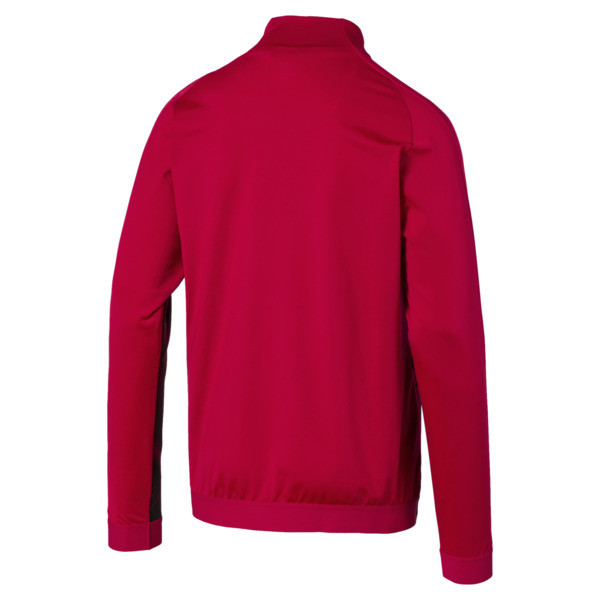 AC Milan Stadium Men's Jacket, Tango Red -Puma Black, large