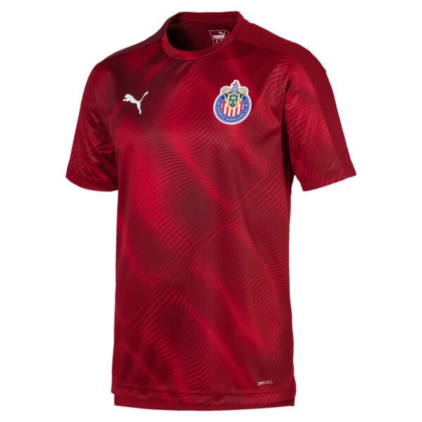 Chivas Men's Stadium Replica Jersey, Pomegranate, large