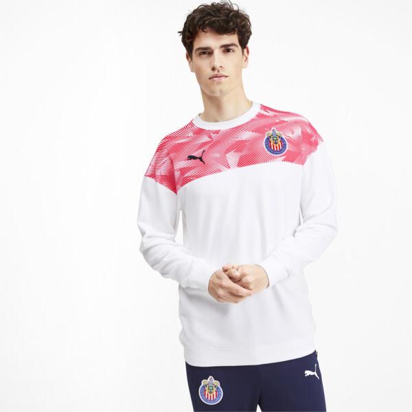 Chivas Casuals Men's Pullover, Puma White-Puma Red, large