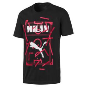 Thumbnail 4 of AC Milan DNA Men's Tee, Cotton Black-tango red, medium
